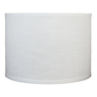 Classic 14 Linen Drum Lamp Shade Color: Off White