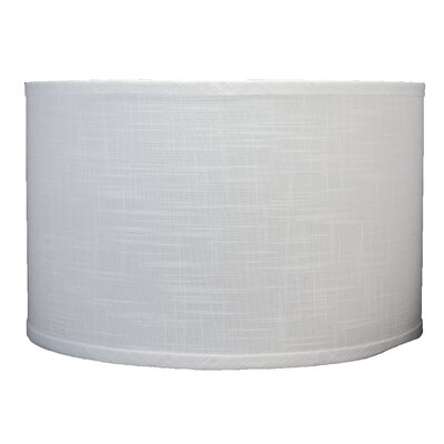 Classic 16 Linen Drum Lamp Shade Color: Off White