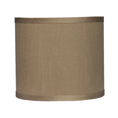 Classic 8 Faux Silk Drum Lamp Shade Color: Taupe