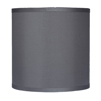 Classic 10 Faux Silk Drum Lamp Shade Color: Gray
