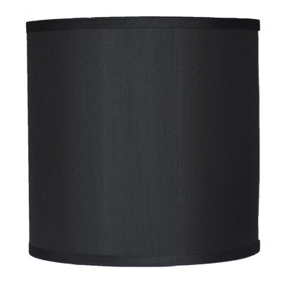 Classic 10 Faux Silk Drum Lamp Shade Color: Black
