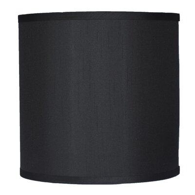 Classic 10 Faux Silk Drum Lamp Shade Color: Black