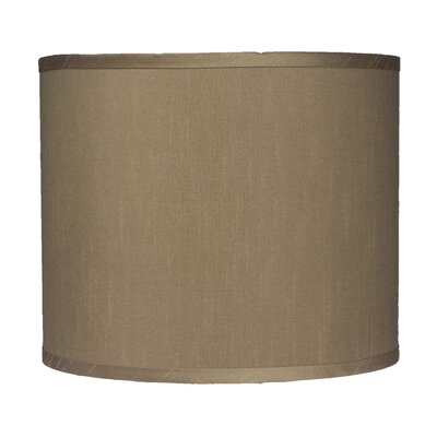 Classic 12 Faux Silk Drum Lamp Shade Color: Taupe