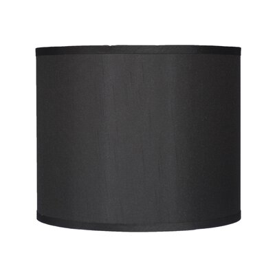 Classic 12 Faux Silk Drum Lamp Shade Color: Black