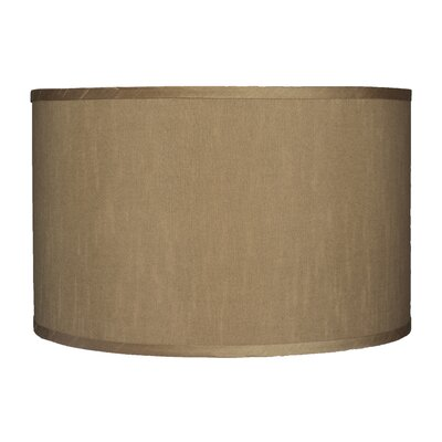 Classic 16 Faux Silk Drum Lamp Shade Color: Taupe