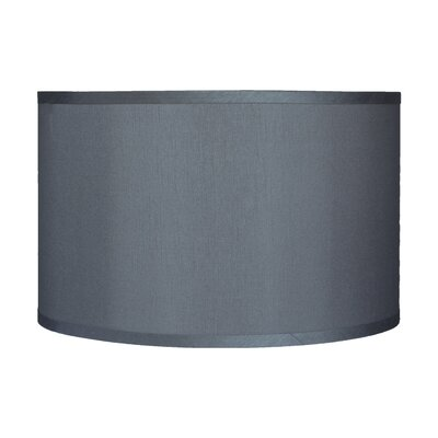 Classic 16 Faux Silk Drum Lamp Shade Color: Gray
