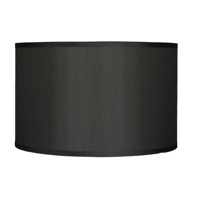 Classic 16 Faux Silk Drum Lamp Shade Color: Black