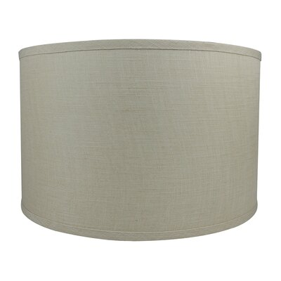 Classic Smooth 16 Linen Drum Lamp Shade Color: Natural