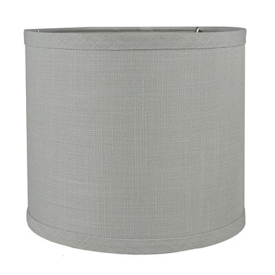Classic Smooth 8 Linen Drum Lamp Shade Color: Gray