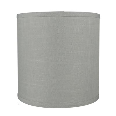 Classic Smooth 10 Linen Drum Lamp Shade Color: Gray