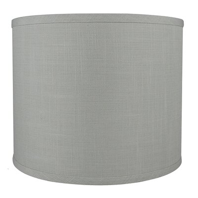 Classic Smooth 12 Linen Drum Lamp Shade Color: Gray