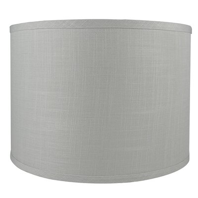 Classic Smooth 14 Linen Drum Lamp Shade Color: Gray
