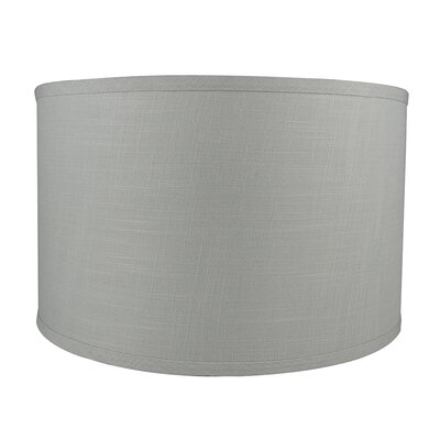 Classic Smooth 16 Linen Drum Lamp Shade Color: Gray