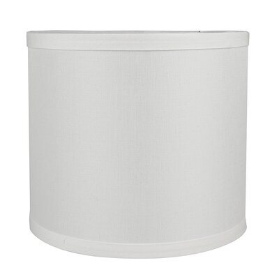 Classic Smooth 8 Linen Drum Lamp Shade Color: Off White