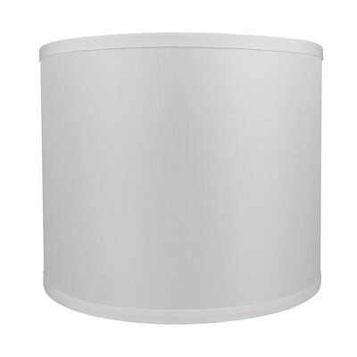 Classic Smooth 12 Linen Drum Lamp Shade Color: Off White