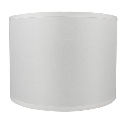 Classic Smooth 14 Linen Drum Lamp Shade Color: Off White