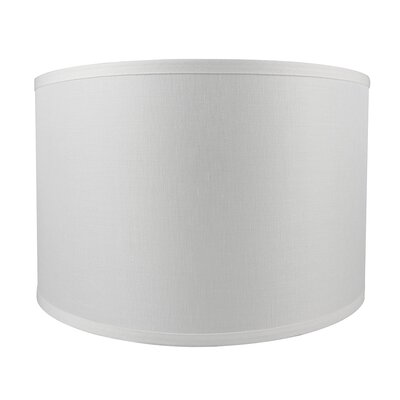 Classic Smooth 16 Linen Drum Lamp Shade Color: Off White