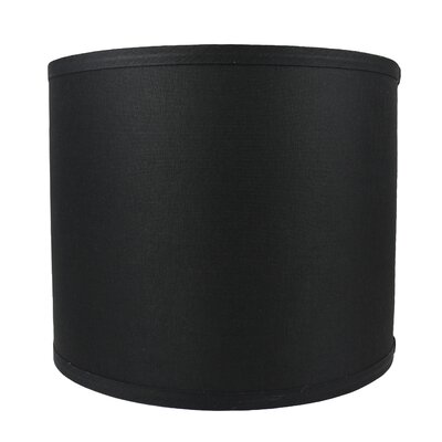 Classic Smooth 12 Linen Drum Lamp Shade Color: Black