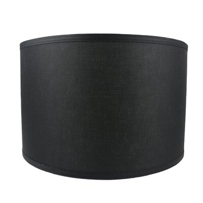Classic Smooth 16 Linen Drum Lamp Shade Color: Black