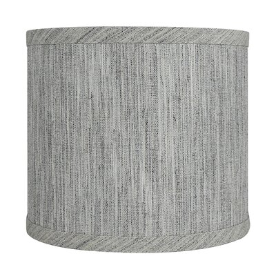 Classic Smooth 8 Linen Drum Lamp Shade Color: Storm