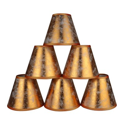 6 Clip-on Foiled Paper Candelabra Shade Color: Copper
