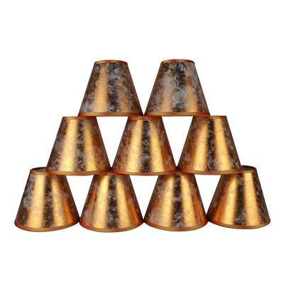 6 Clip-on Foiled Paper Candelabra Shade Color: Copper