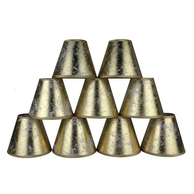 6 Clip-on Foiled Paper Candelabra Shade Color: Gold