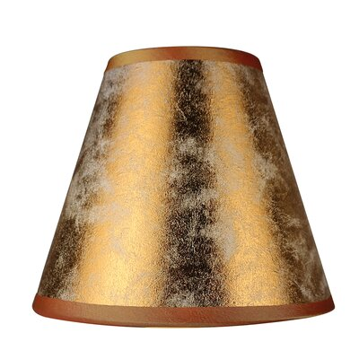 6 Clip-on Foiled Paper Empire Candelabra Shade Color: Copper