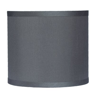 Classic 8 Faux Silk Drum Lamp Shade Color: Gray