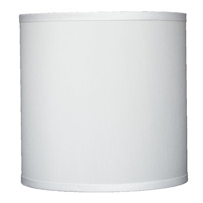 Classic 10 Faux Silk Drum Lamp Shade Color: Off White