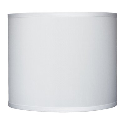 Classic 12 Faux Silk Drum Lamp Shade Color: Off White