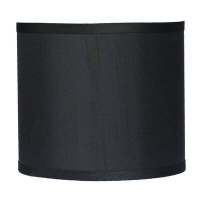 Classic 8 Faux Silk Drum Lamp Shade Color: Black