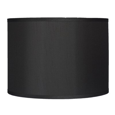 Classic 14 Faux Silk Drum Lamp Shade Color: Black