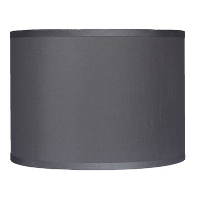 Classic 14 Faux Silk Drum Lamp Shade Color: Gray