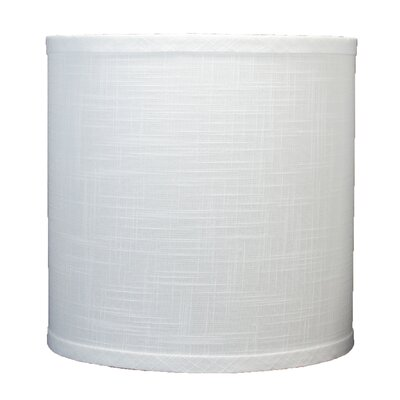 Classic 10 Linen Drum Lamp Shade Color: Off White