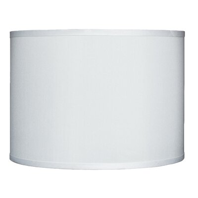 Classic 14 Faux Silk Drum Lamp Shade Color: Off White