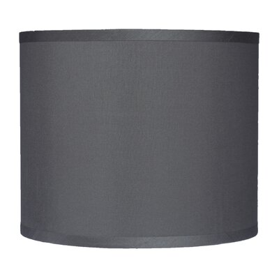 Classic 12 Faux Silk Drum Lamp Shade Color: Gray