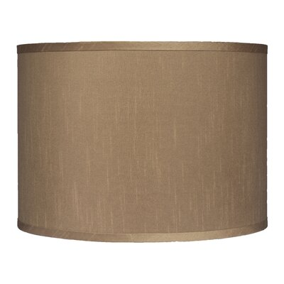 Classic 14 Faux Silk Drum Lamp Shade Color: Taupe