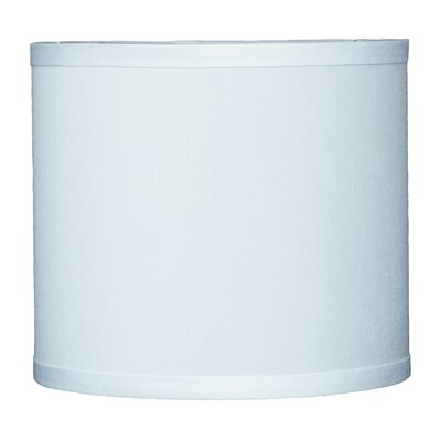 Classic 8 Faux Silk Drum Lamp Shade Color: Off White