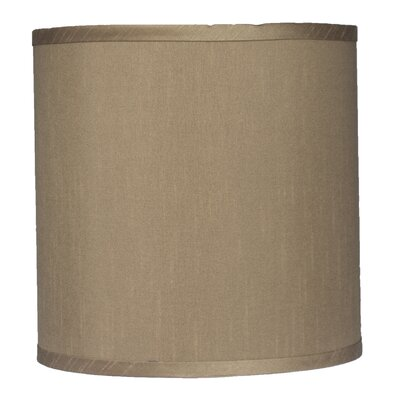 Classic 10 Faux Silk Drum Lamp Shade Color: Taupe