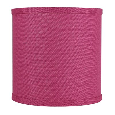 Classic 10 Burlap Drum Lamp Shade Color: Fuchsia