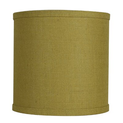 Classic 10 Burlap Drum Lamp Shade Color: Mustard Yellow