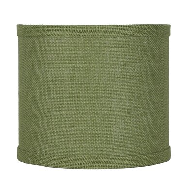 Classic 8 Burlap Drum Lamp Shade Color: Khaki Green