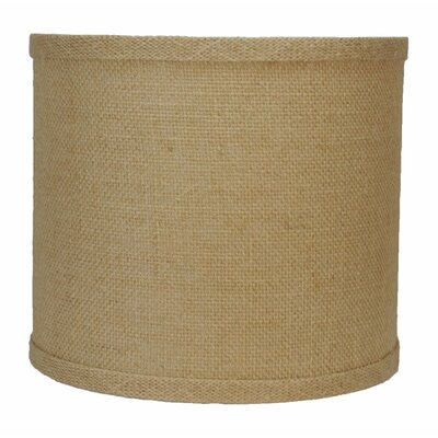 Classic 10 Burlap Drum Lamp Shade Color: Natural Burlap