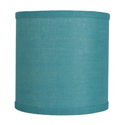 Classic 10 Burlap Drum Lamp Shade Color: Spa