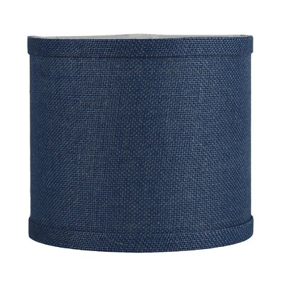 Classic 8 Burlap Drum Lamp Shade Color: Denim Blue