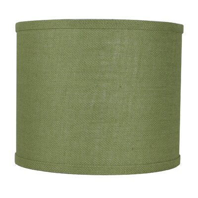 Classic 12 Burlap Drum Lamp Shade Color: Khaki Green
