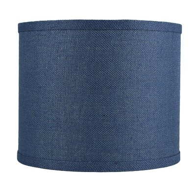 Classic 12 Burlap Drum Lamp Shade Color: Denim Blue