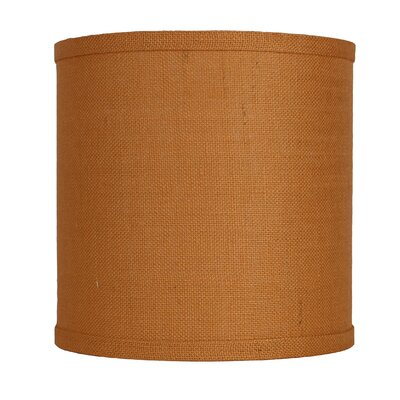 Classic 10 Burlap Drum Lamp Shade Color: Tangerine