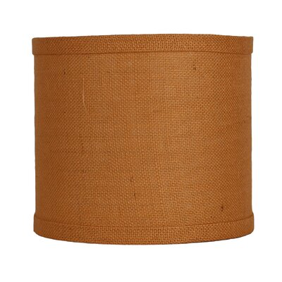 Classic 8 Burlap Drum Lamp Shade Color: Tangerine